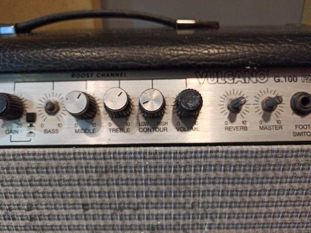 Amplificador c/ Pré Valvulado Vulcano G100 2x10 - Foto 4