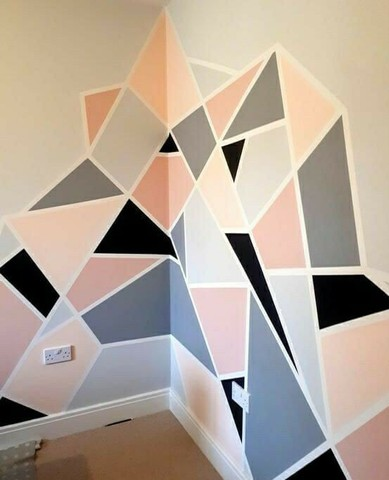 Pinturas geométricas em parede  - Foto 2