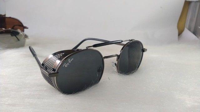 Oculos Alok Steampunk Masculino Retro Original  - Foto 4