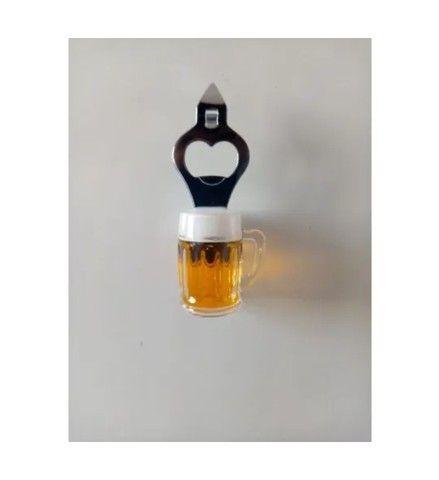 Abridor de garrafa com imã copo cerveja - Foto 2