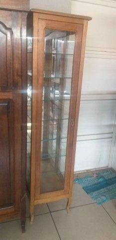 Cristaleira provençal de madeira maciça  - Foto 2