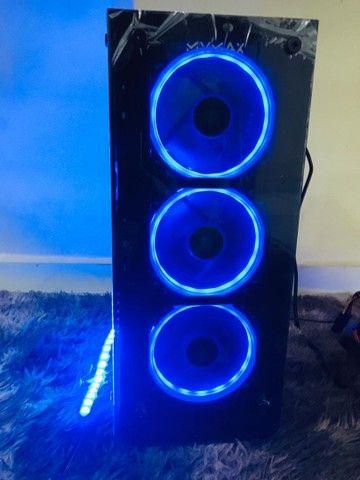 Gabinete Vulcano Vidro Temperado com kit fans RGB ou sem  -entrego frete grátis