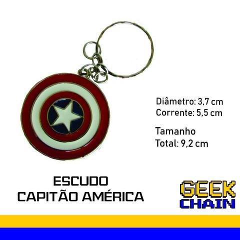 Chaveiro Geek - Escudo Capitão América - Hobbies e coleções - Parque ... d4d4189c77