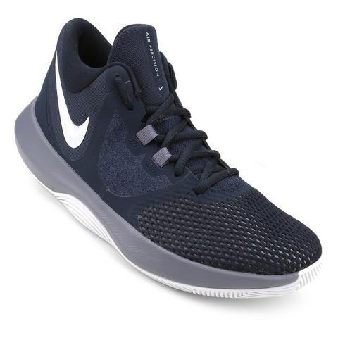 c1c166b1c6 Tênis Nike Air Precision II Masculino - Marinho e Cinza - Esportes e ...
