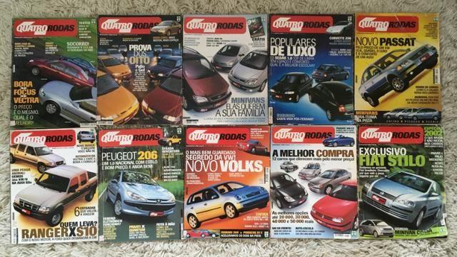 10 Revistas Quatro Rodas Janeiro até Outubro 2001