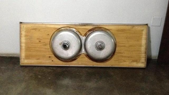 Troco pia de cozinha por frete - Foto 6
