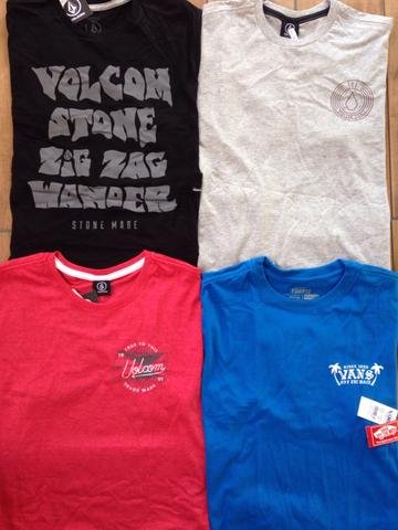 Kit 5 camisetas marcas surf/skate originais entrego - Foto 3