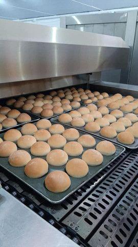 Forno Tunel e esteira para pães, biscoitos, pizza