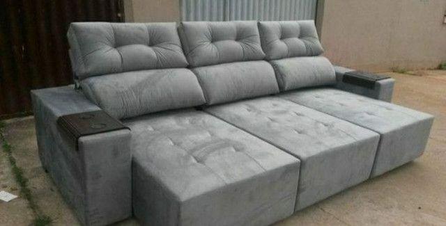 Sofá retrátil e reclinável 3 metros. - Foto 5