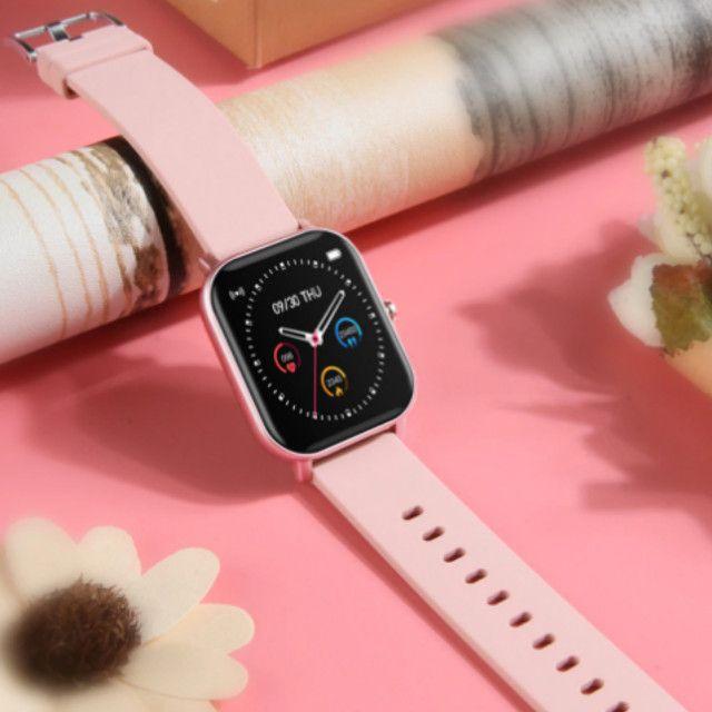 Relógio Smartwatch Colmi P8 esportivo fitness com frequência cardíaca/ tela touch IPX7 - Foto 4
