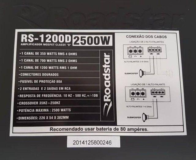 Módulo som roadstar 1200 RMS - Foto 4