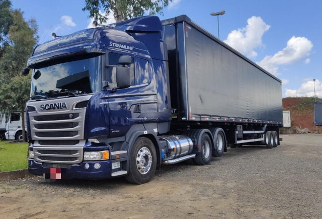 Conjunto Scania Streamline Trucado 6x2 + Sider Librelato 28 Pallets 2015
