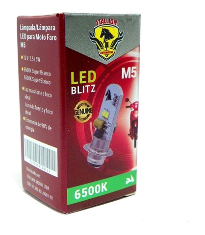 Lampada/Farol LED para motos Biz 125/Bros até 2012   - Foto 2