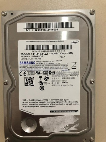 HD Samsung 160 GB