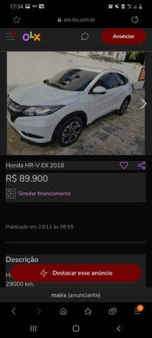 Vendo Carro HR-V EX 2018 BRANCO - Foto 3