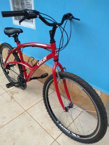 Bicicleta Caloi 200 Vermelha Seminova - Foto 3