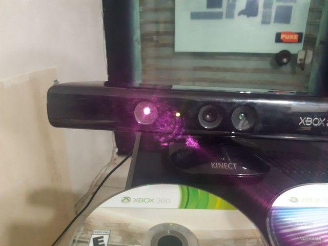 Xbox 360 slim + Kinect +2 jogos original  - Foto 3