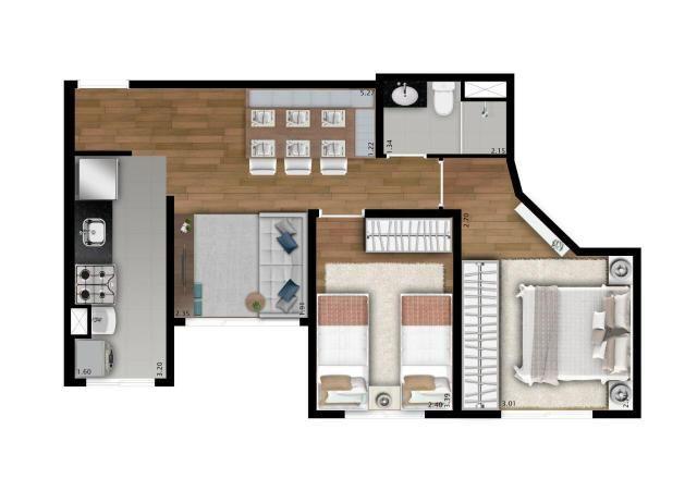 Apartamento - 2 Dorm. - Vista Club Jandira - Foto 14