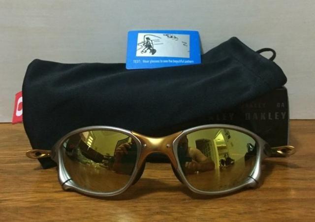 52be594048b69 Óculos Double Xx 24k Dourada em Metal - Bijouterias