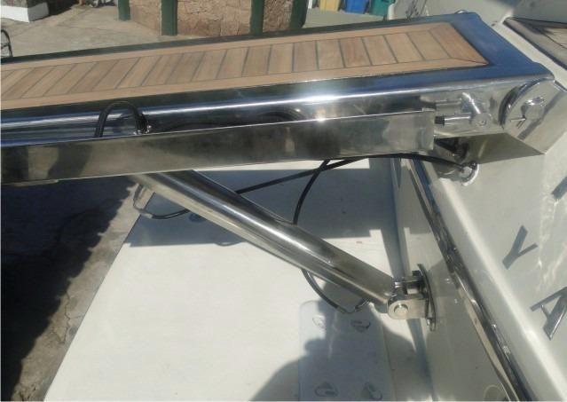 c9ce294d9f Passarela e plataforma hidráulica em aço inox 316 para lancha - Foto 3