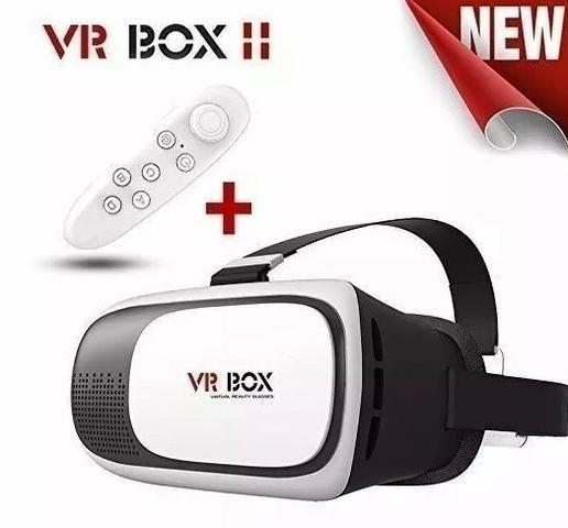 65e0bc62044a5 Óculos 2.0 Vr Box Realidade Virtual 3d Android + Controle - Áudio ...
