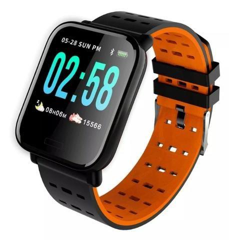 Relógio Smartwatch Medição Ky109 Bluetooth Ip67 Cal Batimentos Pressão - Mega Infotech