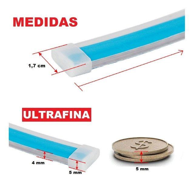Barra De Led Flexivel Farol Drl Seta Sequencial Externa - Foto 5