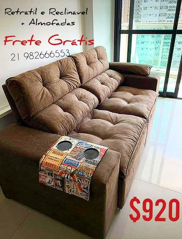 Sofa Retrátil e Reclinável + Frete grátis - Móveis - Vila ...