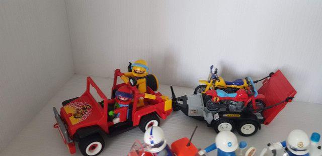 Playmobil - Grande Coleção De Motos E Sets - Foto 4