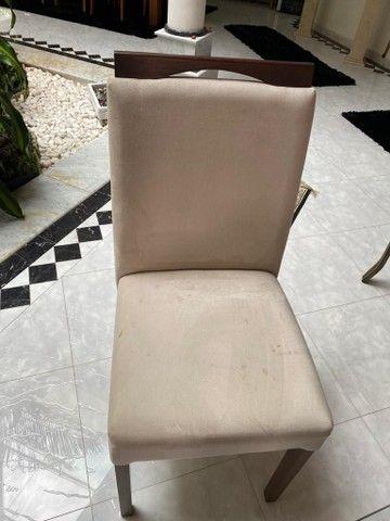 ABAIXOU! Mesa de jantar de vidro c/ 6 cadeiras estofadas - Foto 2