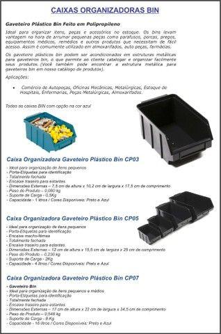 Caixas BIN5 organizadora KIT c/ 10 unidade - Foto 3