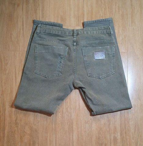 Calça jeans verde John John  - Foto 3