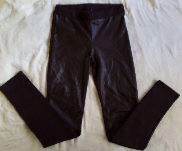 3 calças 12 anos usadas p/ menina (legging , jeans e malha)