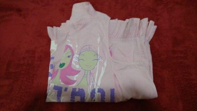 Blusa em tecido 100% algodão - M - Foto 2