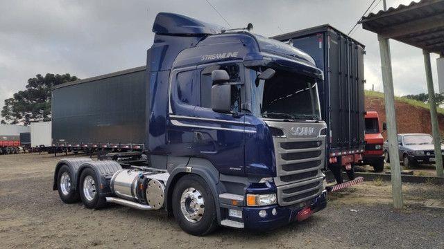 Conjunto Scania Streamline Trucado 6x2 + Sider Librelato 28 Pallets 2015 - Foto 2