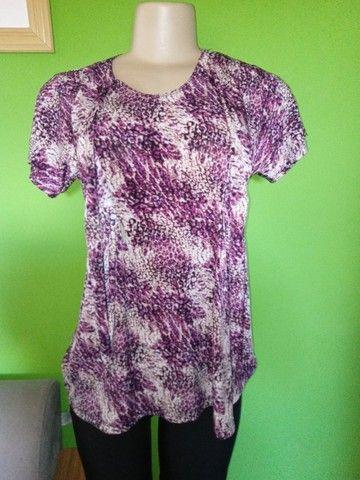 Blusas Femininas em Malha, diversos modelos e estampas - G  - Foto 5