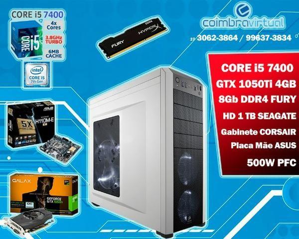 PC Gamer Intel Core i5 7400 7ª Geração + GTX 1050ti 4GB + 8Gb HyperX Fury DDR4 + HD 1Tb