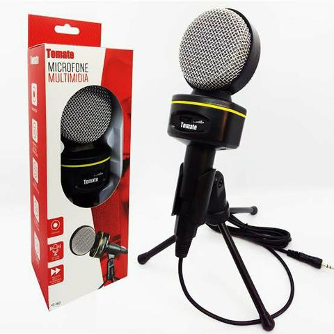 Microfone Multimídia Profissional com tripé