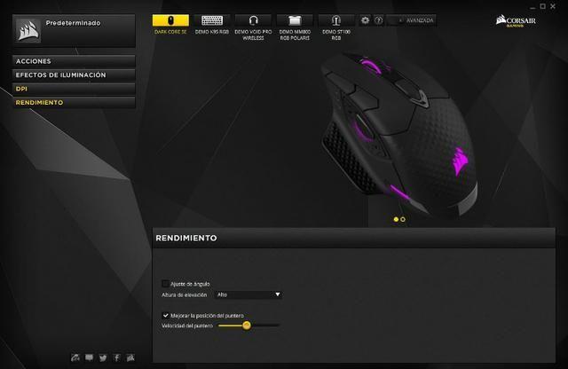 Mouse Gamer Corsair Dark Core SE, Wireless, RGB, 16000 DPI - Foto 6