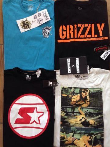 Kit 5 camisetas marcas surf/skate originais entrego - Foto 5