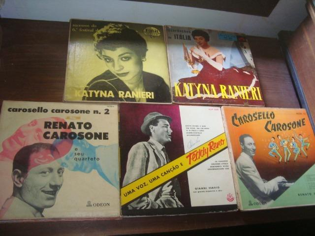 Lotes Discos 10 pol 33 rpm, Eartha Kitt, Francisco Alves, Carlo Buti, Katyna Ranieri,