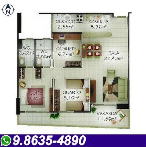 Apartamento no Monte Castelo, 86,45 m², Novo, Ótima localização - Foto 19