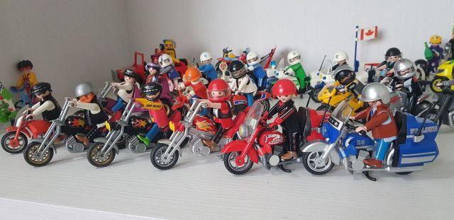 Playmobil - Grande Coleção De Motos E Sets - Foto 3