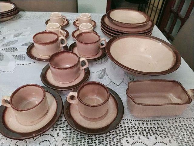 Conjunto louças cerâmica