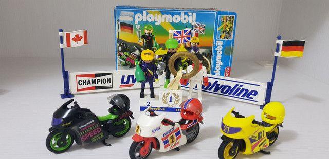 Playmobil - Grande Coleção De Motos E Sets - Foto 2