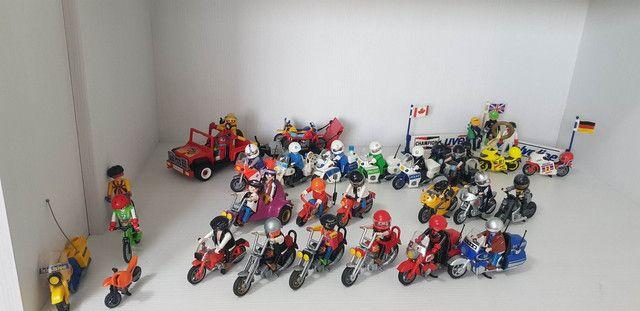 Playmobil - Grande Coleção De Motos E Sets