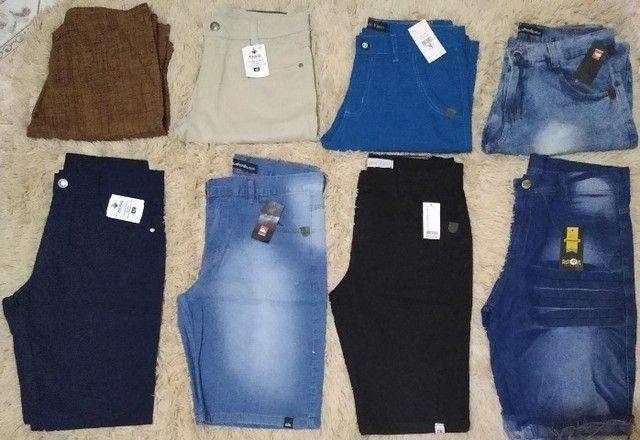 Kit 3 Bermudas Jeans Excelentes  - Foto 4