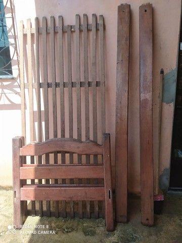 Cama de solteiro, em madeira Angelim 200,00 - Foto 3