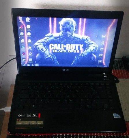 Notebook lg 3gb ddr3 320gb hd apenas teclado ruim, mas vai um usb