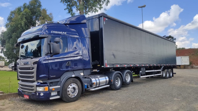 Conjunto Scania Streamline Trucado 6x2 + Sider Librelato 28 Pallets 2015 - Foto 3